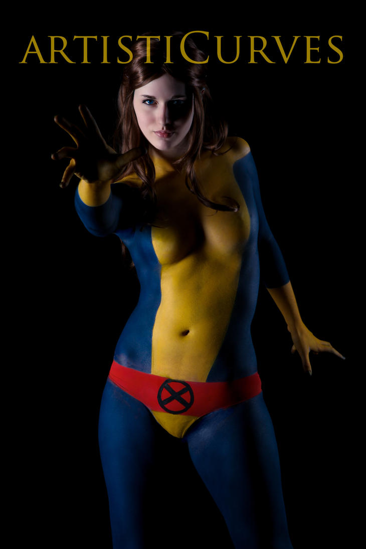 Kitty Pryde body paint - Teaser Image by oldmacman