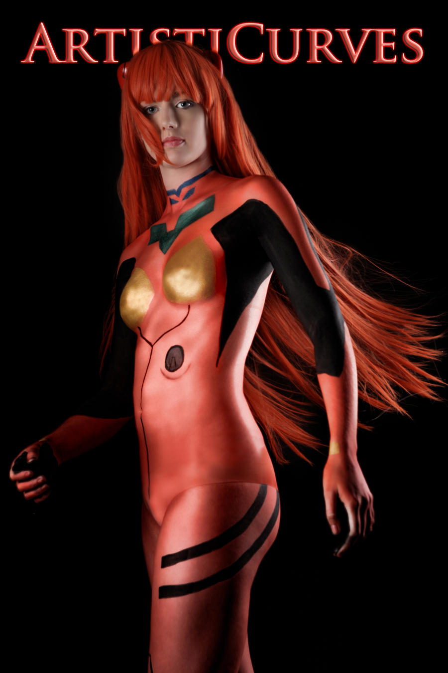 Asuka I - Body paint cosplay by oldmacman
