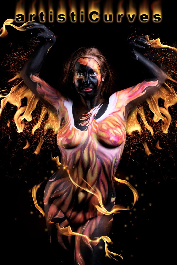 Phoenix Body Paint by oldmacman