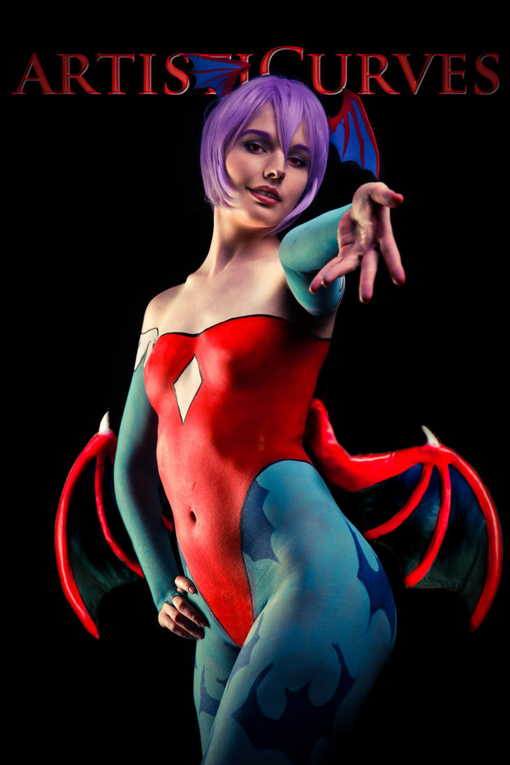 Darkstalker Lilith Body Paint by oldmacman