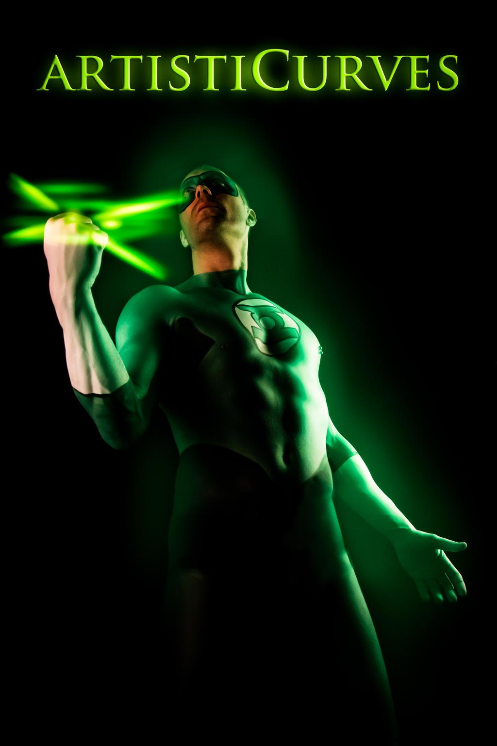 Green Lantern Body Paint by oldmacman