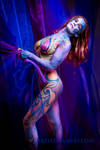 Purple and Gold Body Paint