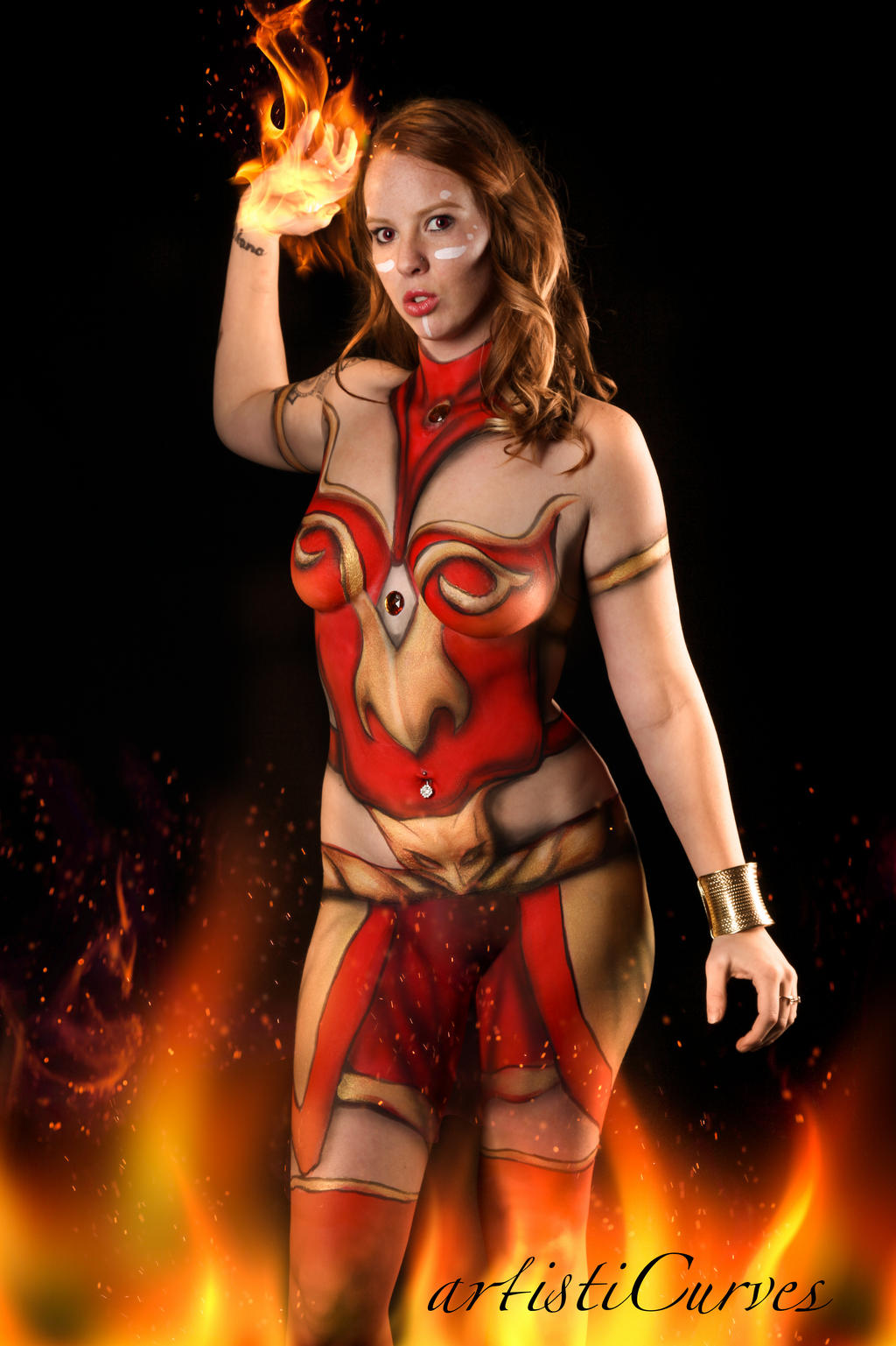Lina Inverse Body Paint by oldmacman