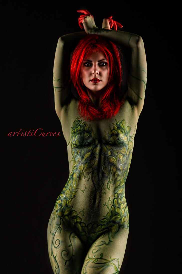 Poison Ivy Bodypaint by oldmacman