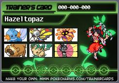 Hazeltopaz's Spring Pokecard by hazeltopaz