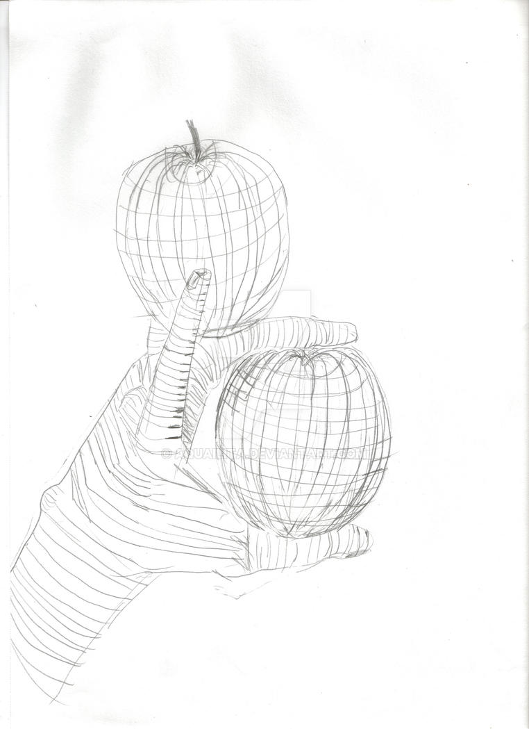 Contour Line Drawing Of Fruit : Art track homework cross contour hand and apples by