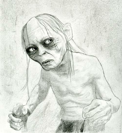 Gollum By Graffiti Pencil On Deviantart
