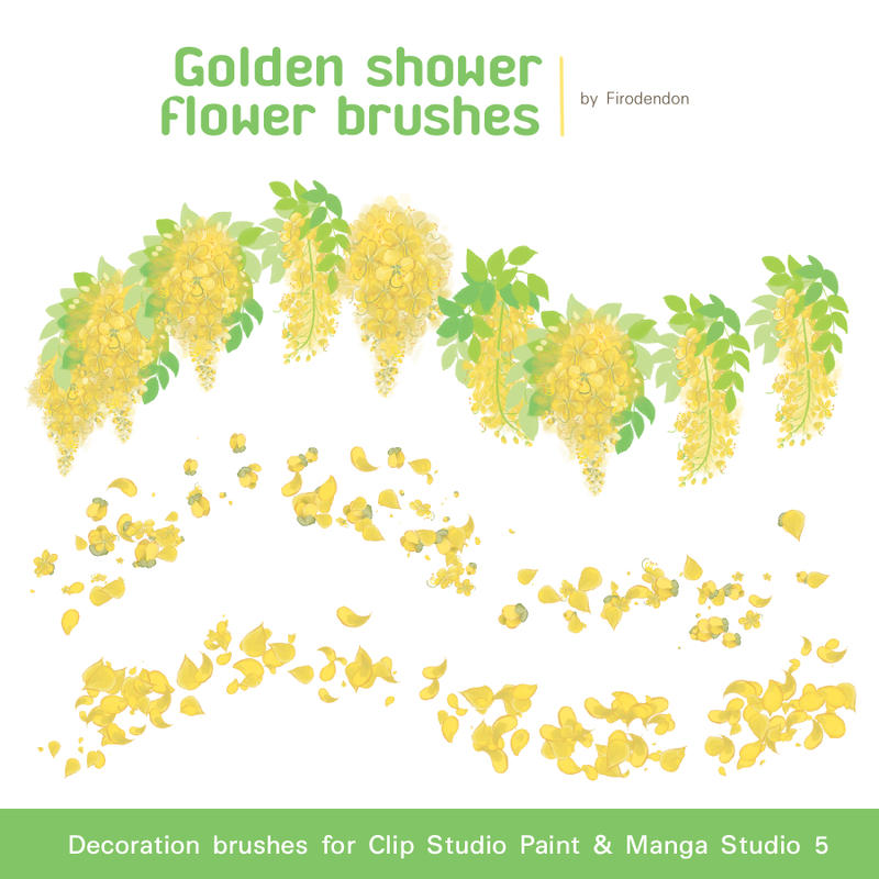 Yellow Flower Brushes For Clip Studio Paint By Firodendon On