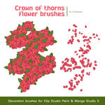 Free Crown of thorns flower Brushes