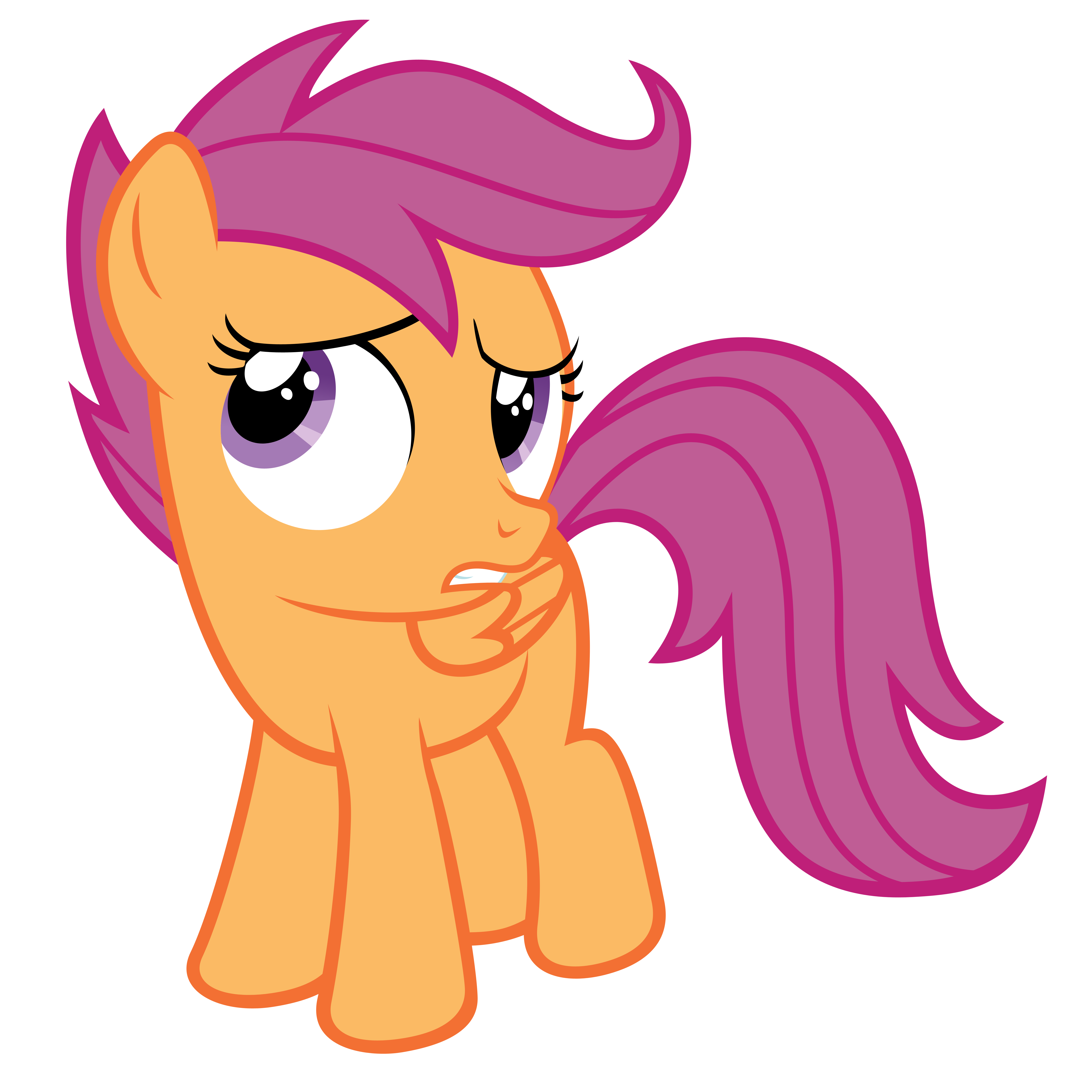 Scootaloo Doubtful By Otfor2 On Deviantart Scootaloo and her friends, apple bloom and sweetie belle form the cutie mark crusaders, aclub/secret society devoted to helping ponies earn. deviantart