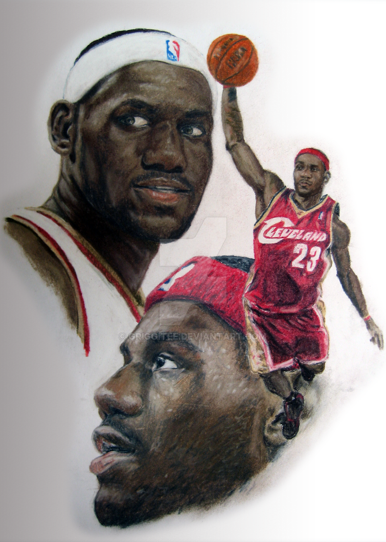 how to draw lebron james