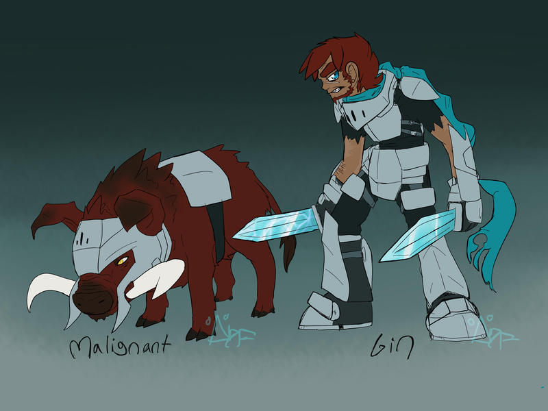 I've been gone for a while, so have some arts Gin_and_malignant_by_herobrineing-d6ye2sm