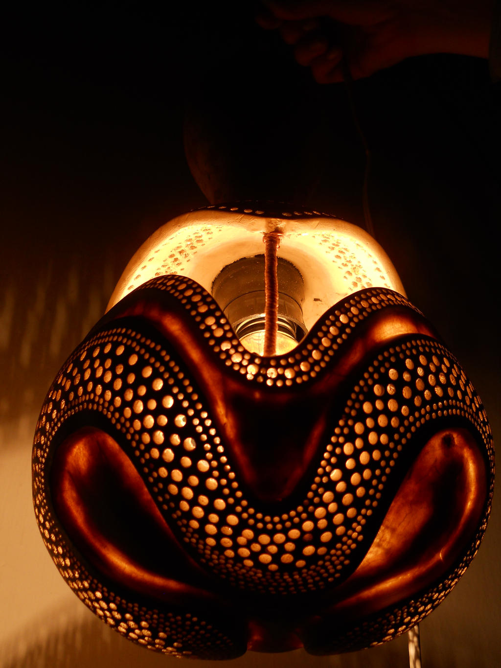 pottery pm photo small product jan victoria gourd morris of lamp image crackle