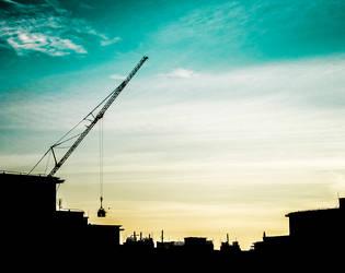 crane silhouette by m1y2