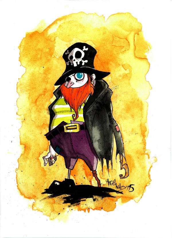 Pirate Watercolor by nekroworld-AgL