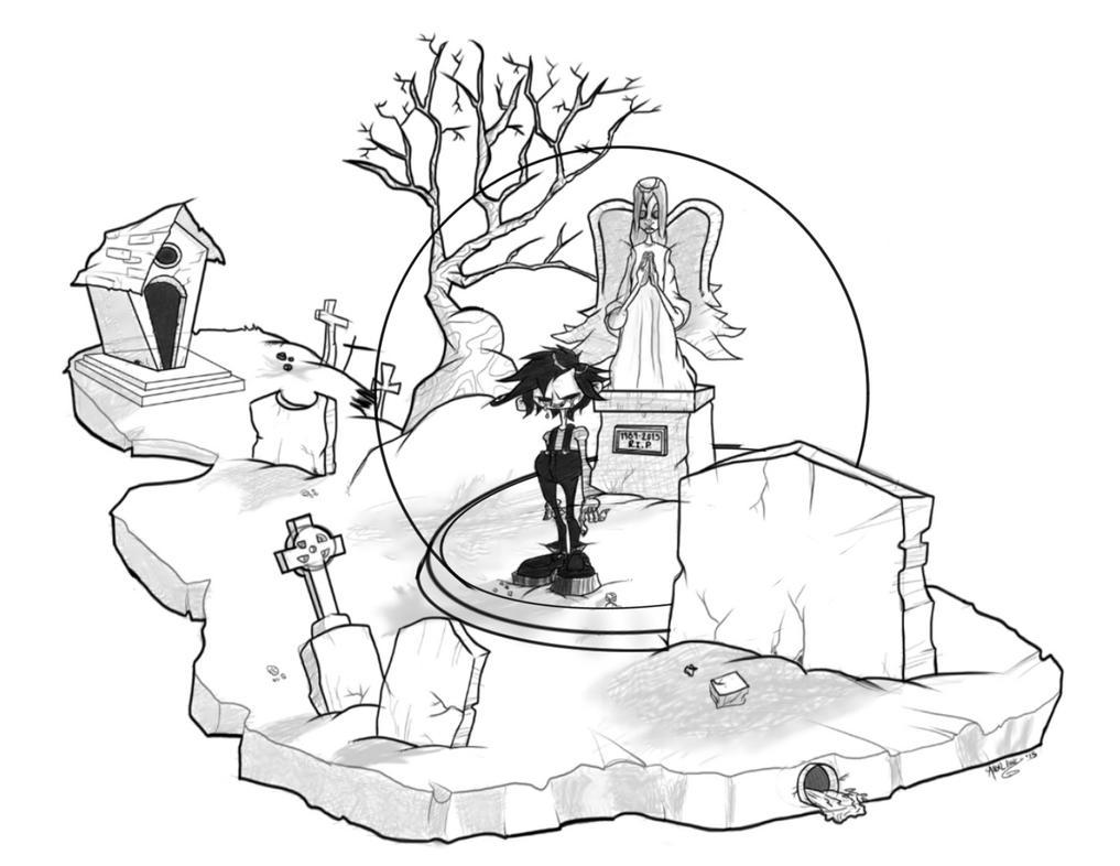 Cemetery Snow Globe by nekroworld-AgL