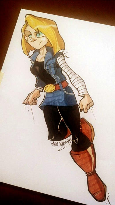 Android 18 by nekroworld-AgL