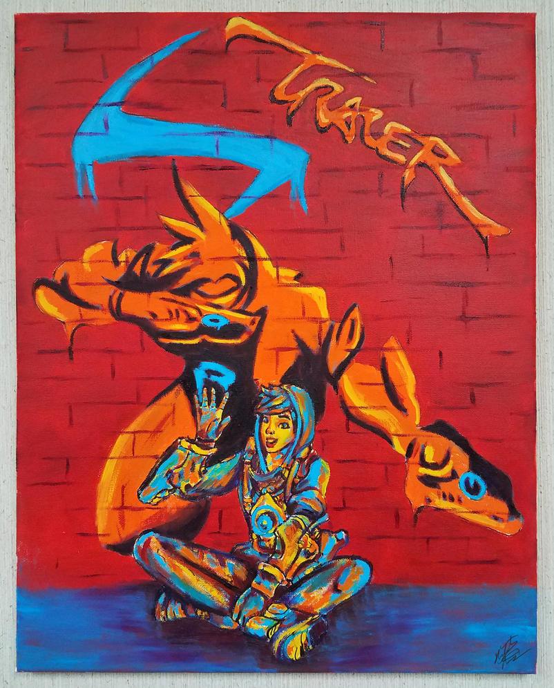 Graffiti Tracer - leaving her mark by nthomas-illustration