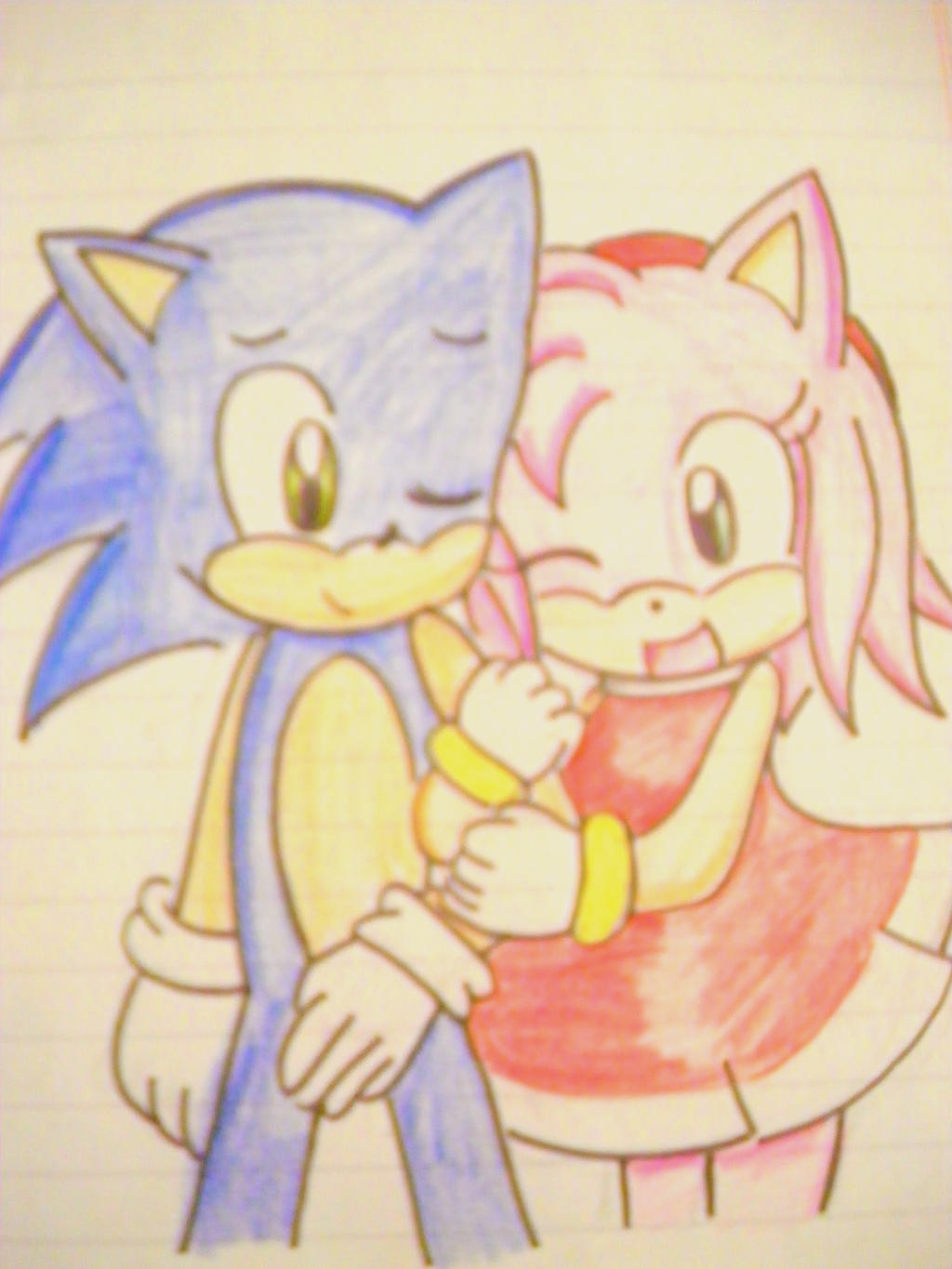 sonic y amy by kary22
