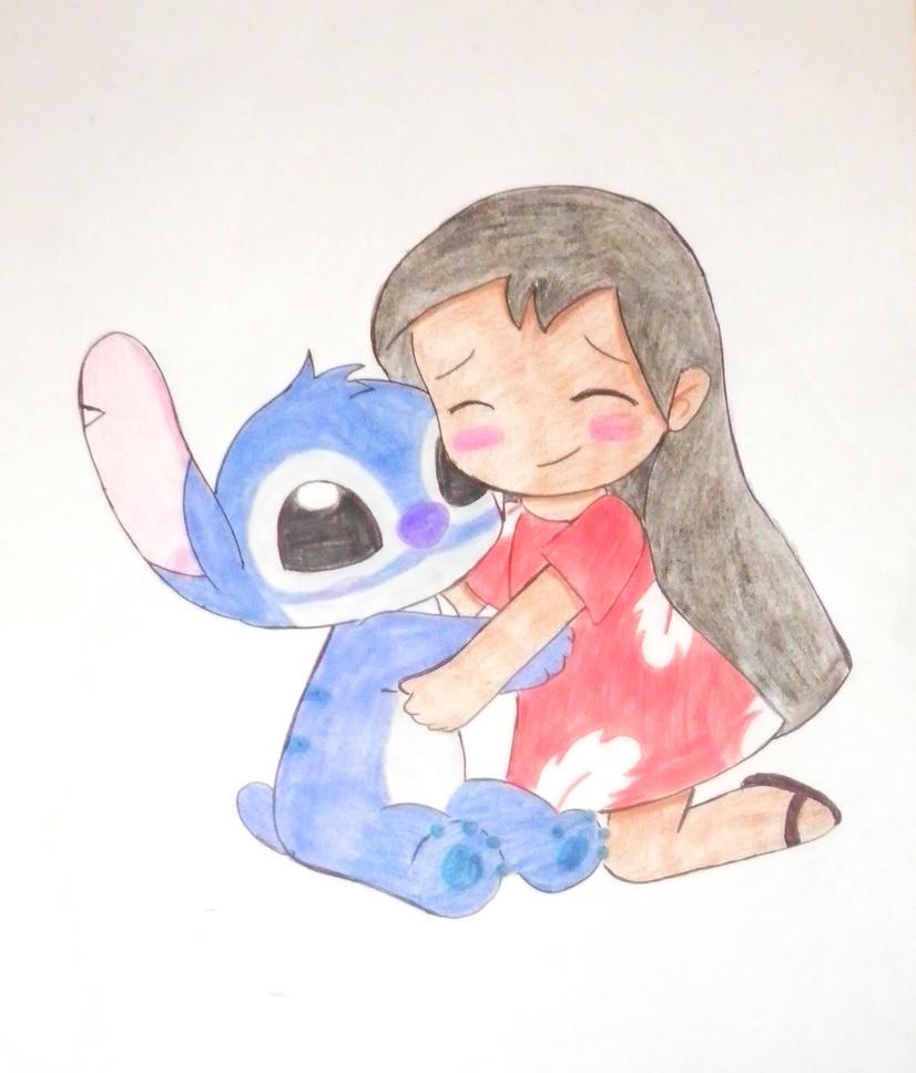 lilo y stitch chibi love by kary22