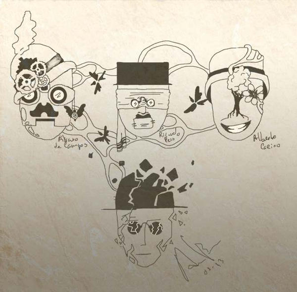 Fernando Pessoa by Hasgral