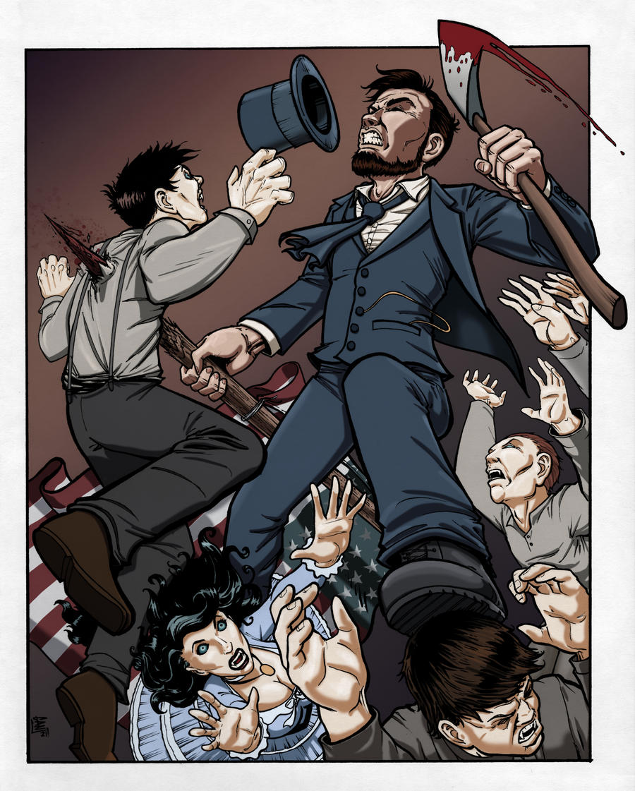 Abraham Lincoln Vampire Hunter - Color by DGanjamie