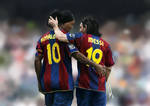 Lionel Messi and Ronaldinho - FC Barcelona by medalXD