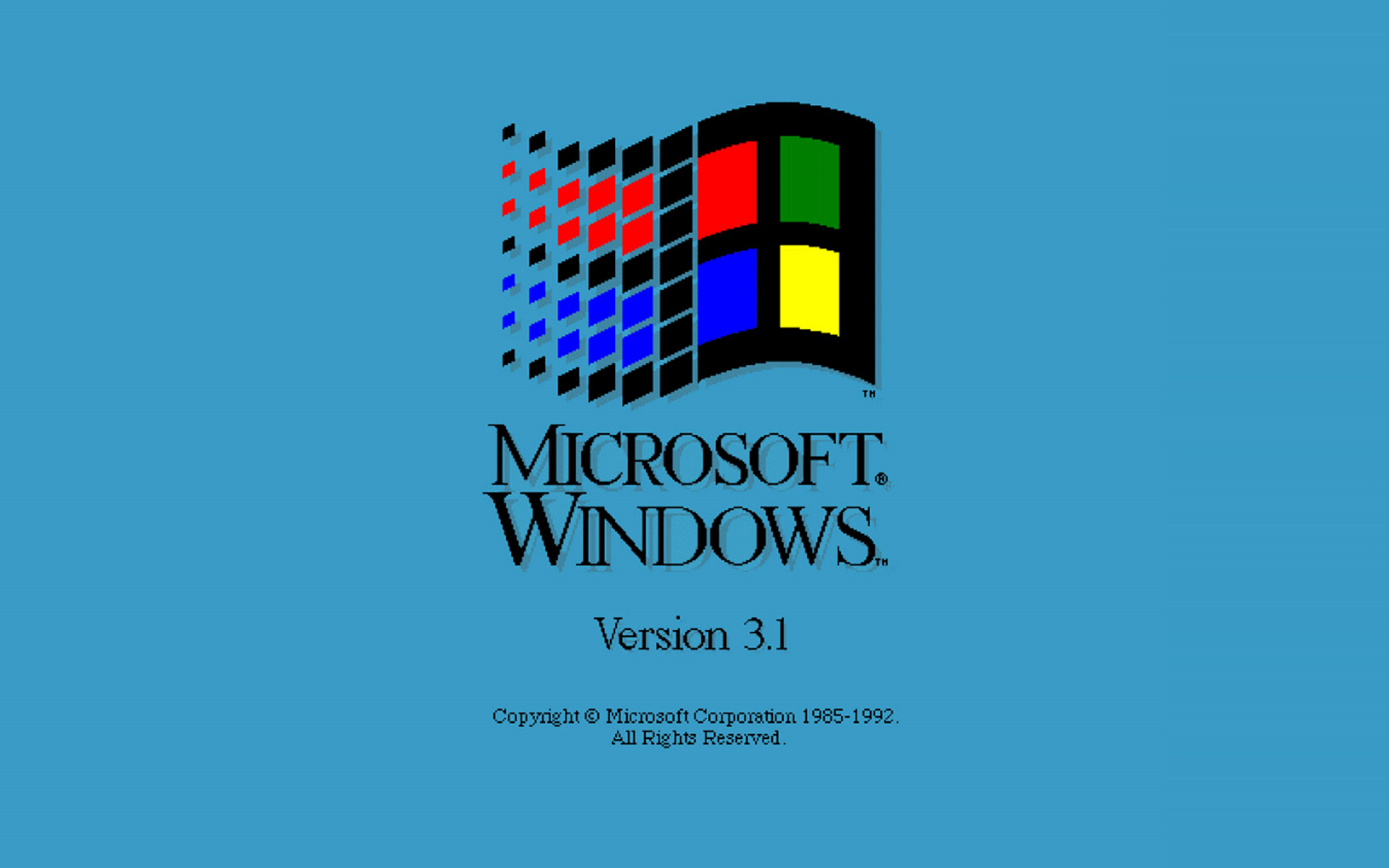 Windows 3 1 desktop wallpaper the image for Microsoft windows 1
