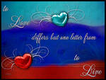 Love differs but one letter...