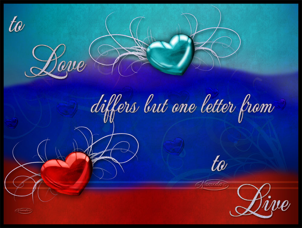 Love differs but one letter... by Nameda