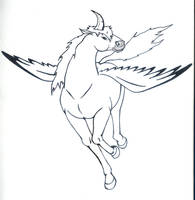Memorials-Claw horned pegazus by DragonLeeX3
