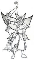 Memorials - Elf archer by DragonLeeX3