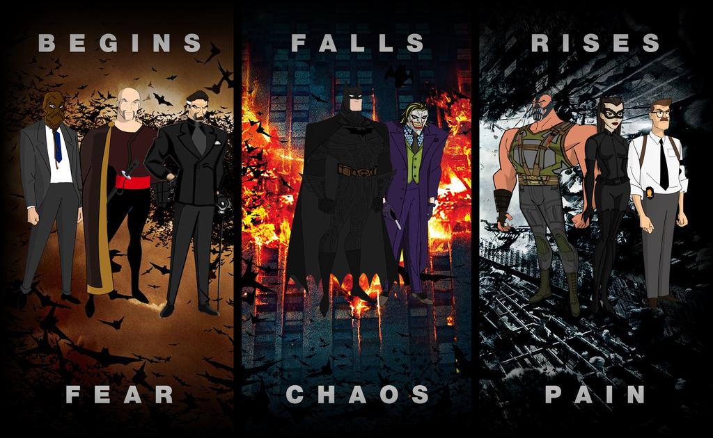 Nolan's Batman Dark Knight Trilogy Animated by batmannotes