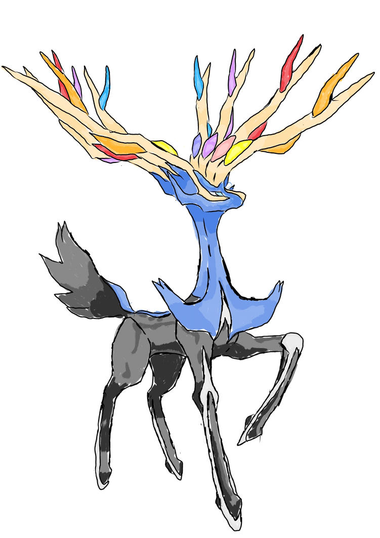 Xerneas version 1 by Tashiyoukai
