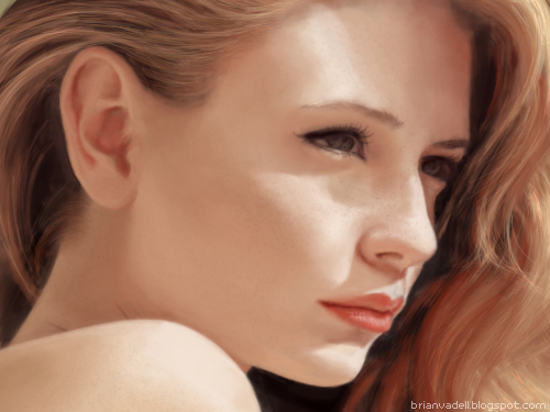 Girl Face Portraits by brianvadell
