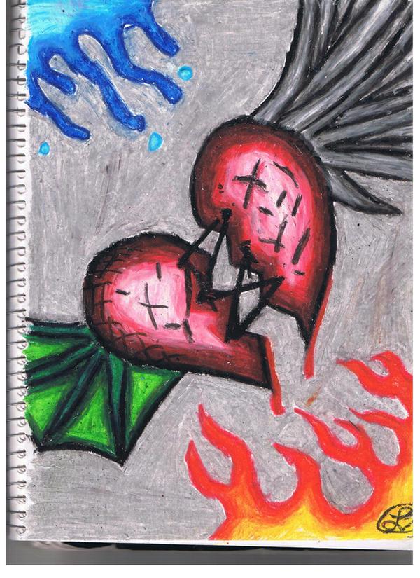 Stitched Up Broken Heart By Hippieinblack