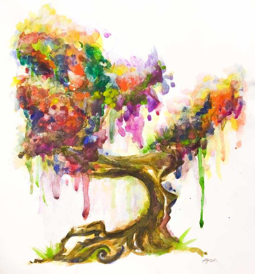 Maiden Tree by jingann