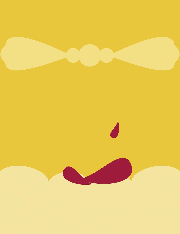 minimalist disney princess belle by cococonundrum on