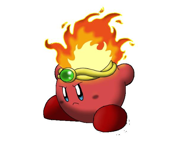 Fire Kirby by flashthewolf