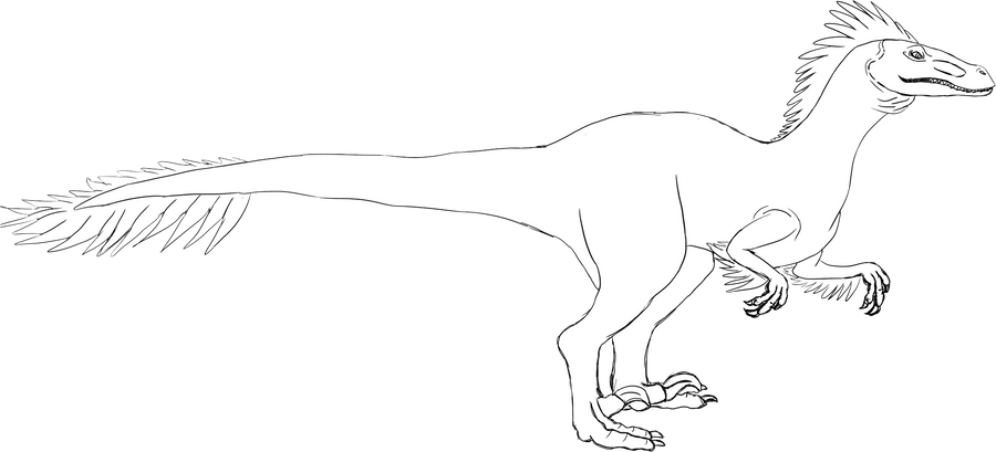 Raptor templates arazoa for Utahraptor coloring page
