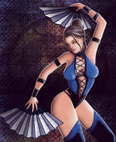 kitana comission by TRAVELLINGTHEC0SM0S