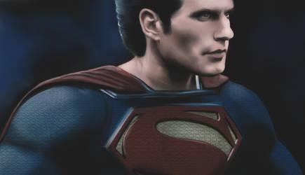 Superman Man of steel portrait