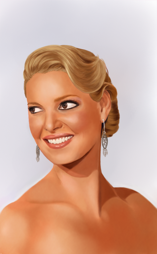 Katherine Heigl painting by LOGARITHMICSPIRAL