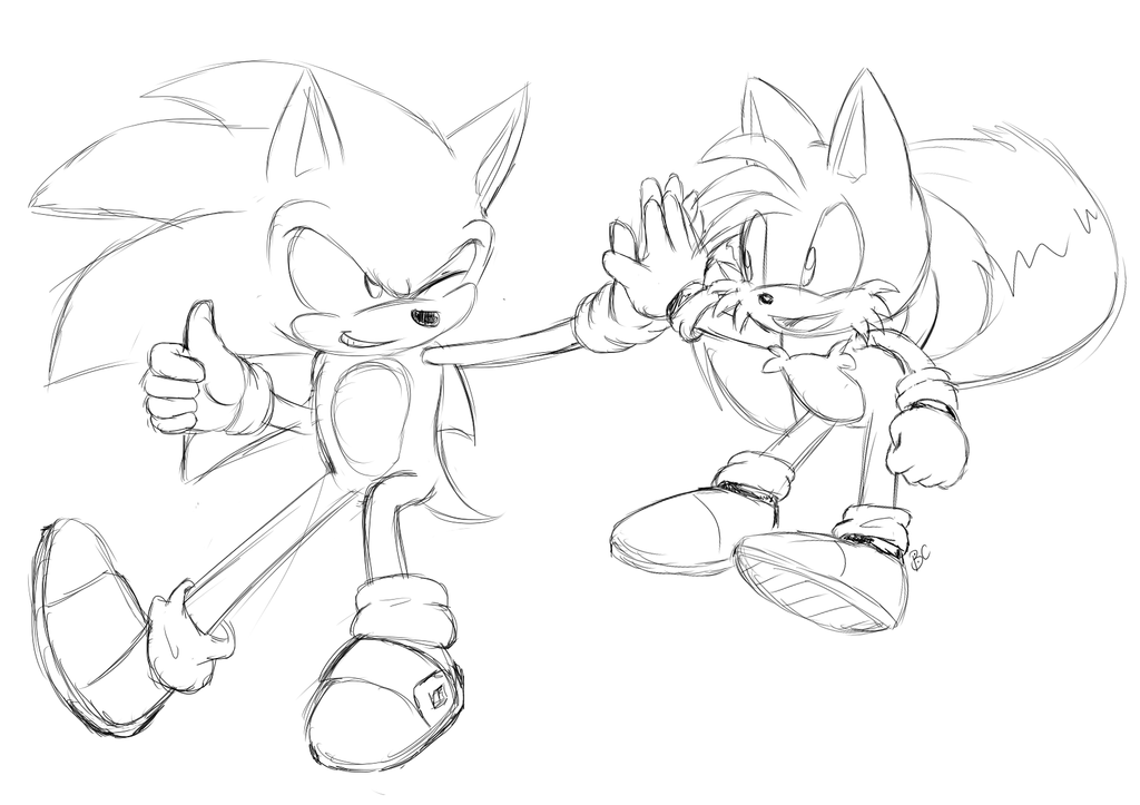 sonic and tails you can color by mitzy chan