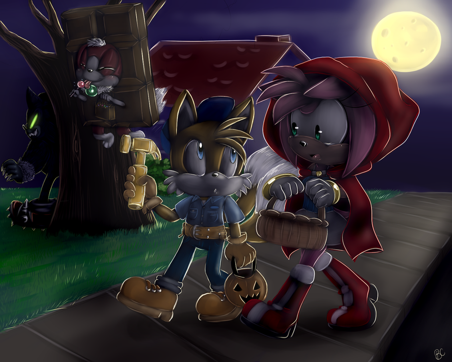 The fun of Trick-or-Treat-ing by Blue-Chica