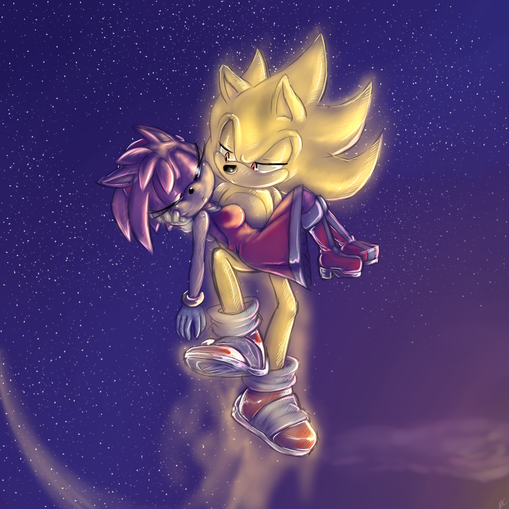 Super Sonic And Amy Remake By Mitzy Chan On Deviantart