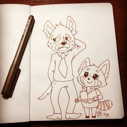 Haida and Retsuko by Mitzy-Chan