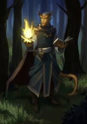 Tiefling sorcerer by SrIonart