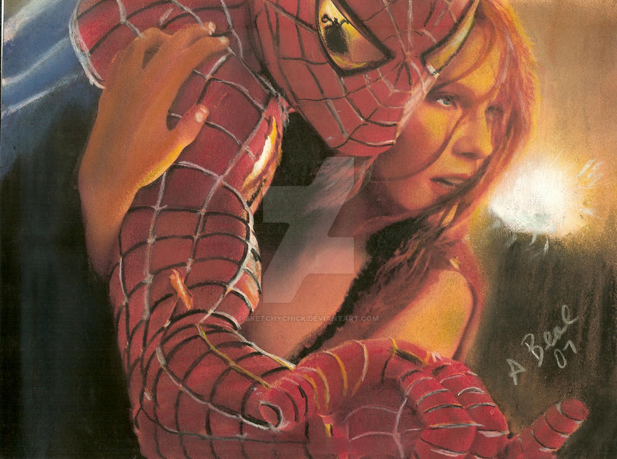 Spiderman Saving The Girl by sketchychick