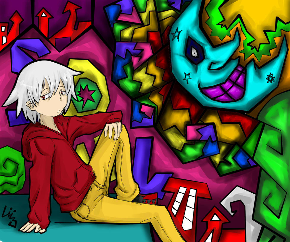 Soul Eater Evans crazy world! Wallpaper 1600x1333 by LiizEsparza-Chan